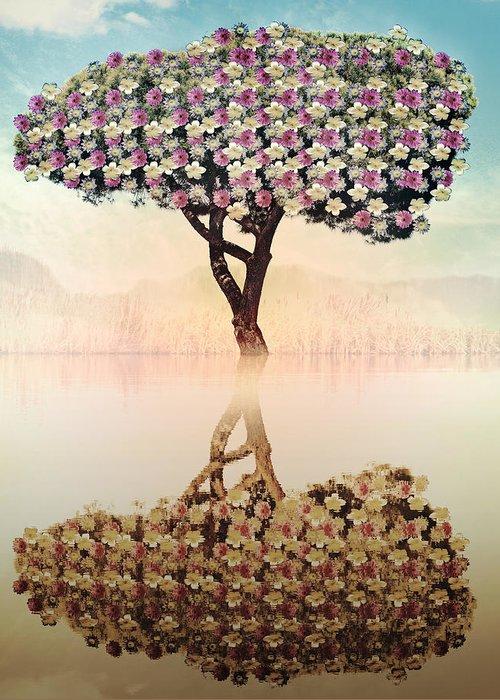 Tree Greeting Card featuring the digital art Tree Of Life by Nannie Van der Wal