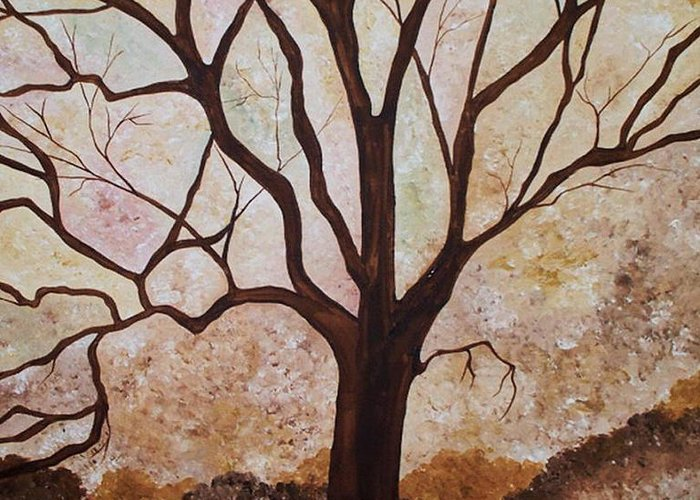 Tree Greeting Card featuring the painting Treedom by Peggy Davis