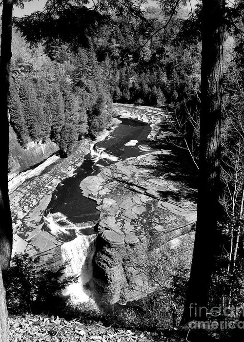 Diane Berry Greeting Card featuring the photograph Trenton Falls by Diane E Berry