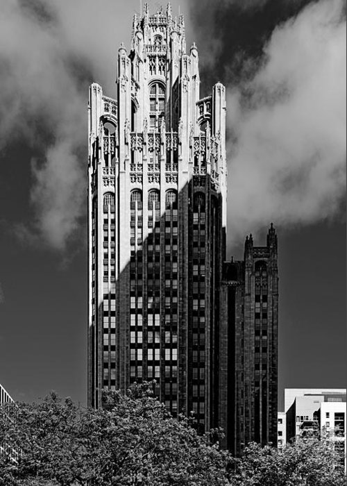 Michigan Greeting Card featuring the photograph Tribune Tower 435 North Michigan Avenue Chicago by Christine Till