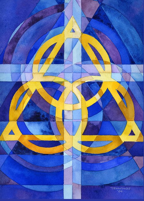 Trinity Greeting Card featuring the painting Trinity by Mark Jennings