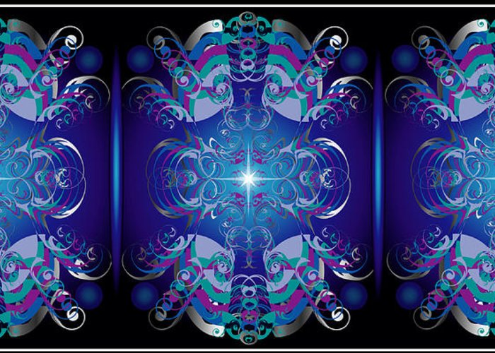 Decor Greeting Card featuring the digital art Tripanel by George Pasini