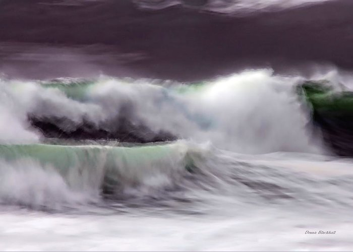 Ocean Greeting Card featuring the photograph Tritan's Dance by Donna Blackhall