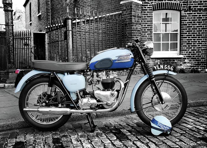 Triumph Bonneville T120 1960 Greeting Card For Sale By Mark Rogan