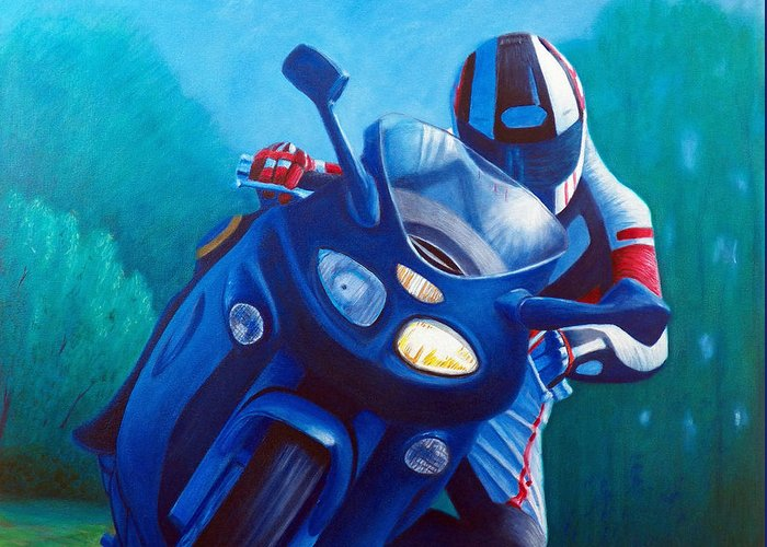 Motorcycles Greeting Cards