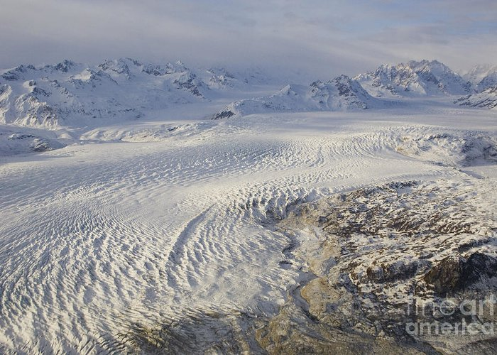 Triumvirate Greeting Card featuring the photograph Triumvirate Glacier In Winter Light by Tim Grams