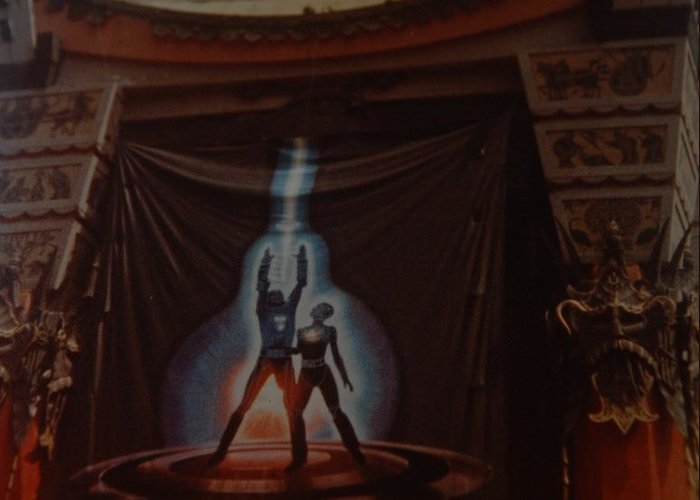 Grumanns Chinese Theater Greeting Card featuring the photograph Tron by Rob Hans