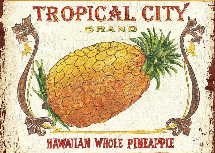 Tropical Fruit Greeting Cards