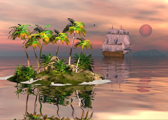 Bryce Greeting Card featuring the digital art Tropical Discovery by Claude McCoy