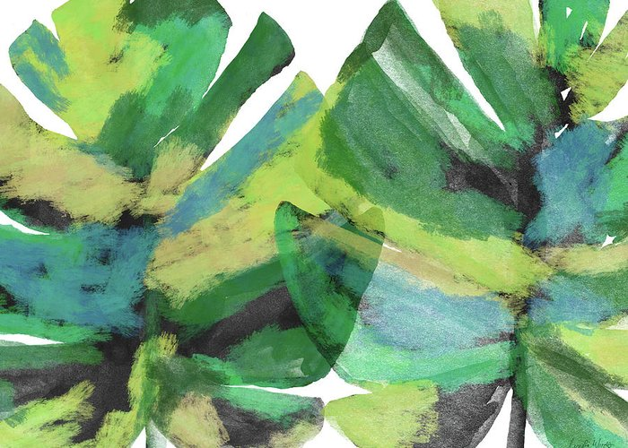 Tropical Greeting Card featuring the mixed media Tropical Dreams 1- Art by Linda Woods by Linda Woods