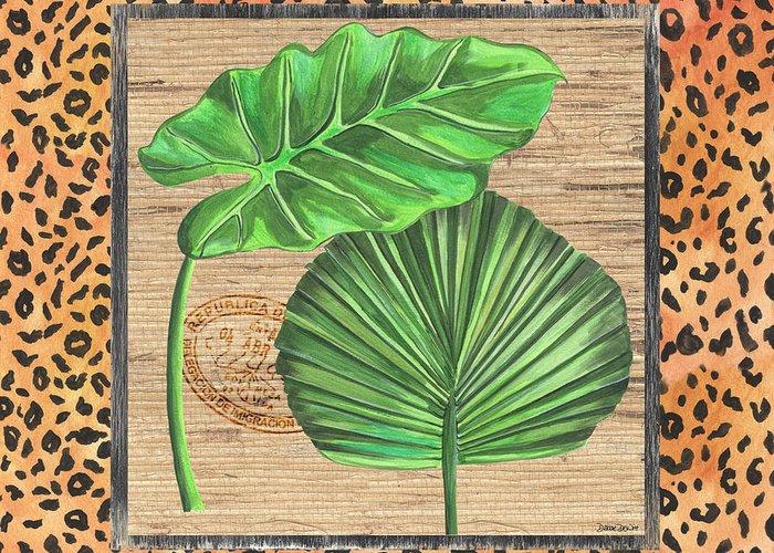 Green Shades Greeting Cards