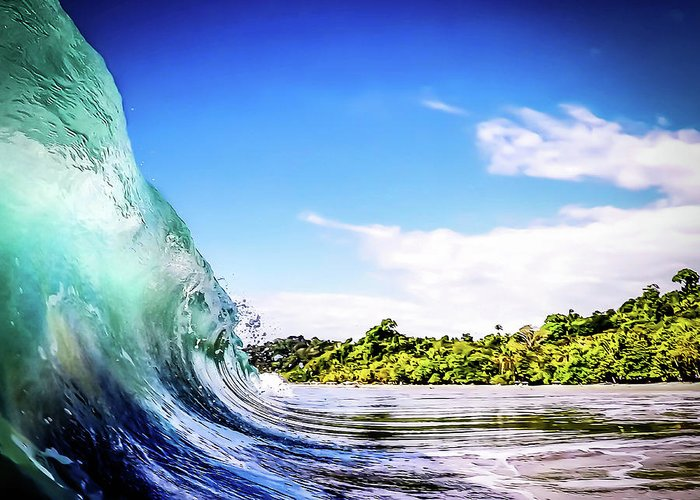 Wave Greeting Card featuring the photograph Tropical Wave by Nicklas Gustafsson