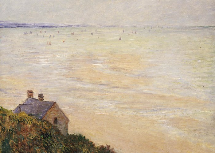 French Greeting Card featuring the painting Trouville At Low Tide by Claude Monet