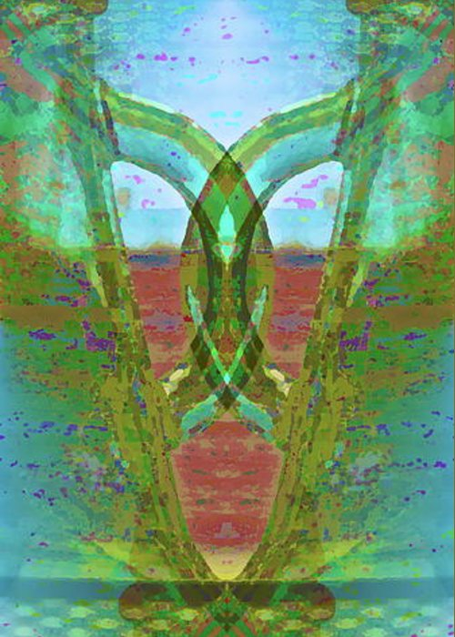 Abstract Greeting Card featuring the photograph True Form by Gwyn Newcombe