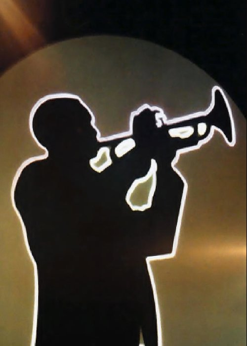 Trumpeter Silhouette Greeting Cards