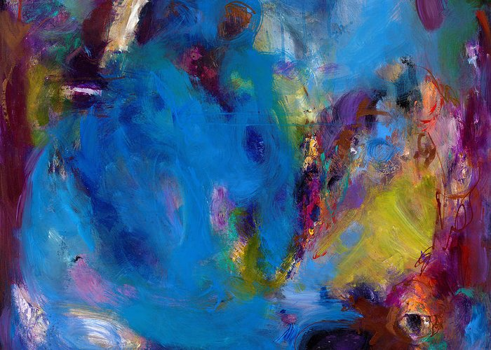 Abstract Expressionistic Greeting Card featuring the painting Truth In Dreams II by Johnathan Harris