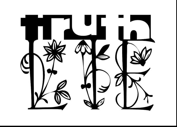Apprehension Greeting Card featuring the digital art Truth - Lie Concept by Shu Fu