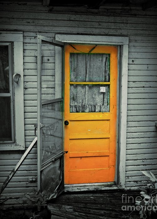 Door Greeting Card featuring the photograph Tuff Times by Perry Webster