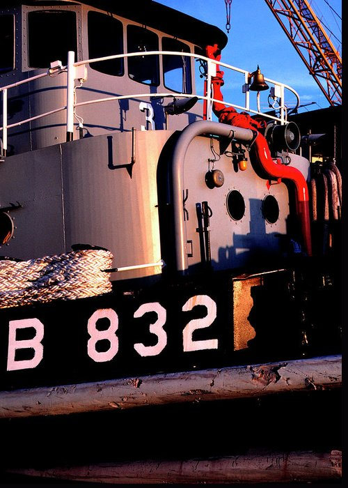 Us Naval Station Mayport Greeting Card featuring the photograph Tug Boat by Thomas R Fletcher