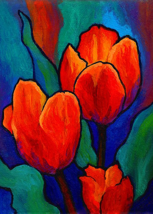 Flower Paintings Greeting Cards
