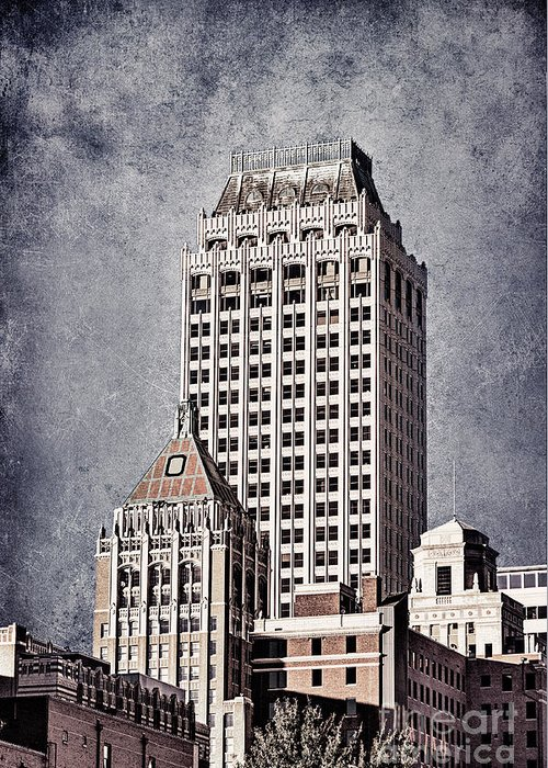 Tulsa Greeting Card featuring the photograph Tulsa Art Deco I by Tamyra Ayles