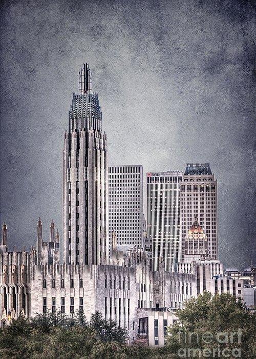Tulsa Greeting Card featuring the photograph Tulsa Art Deco II by Tamyra Ayles