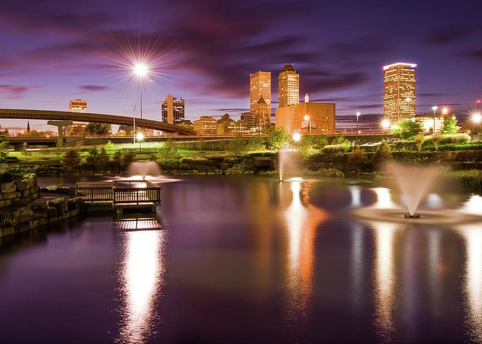 Tulsa Oklahoma. Architecture Greeting Cards