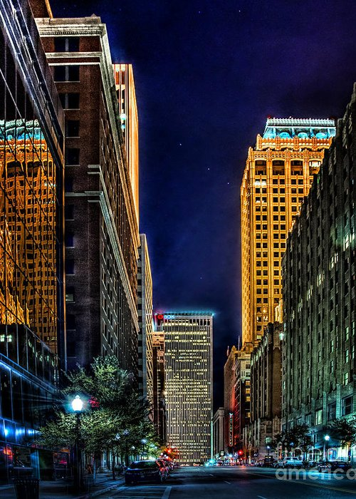 Tulsa Greeting Card featuring the photograph Tulsa Nightlife by Tamyra Ayles