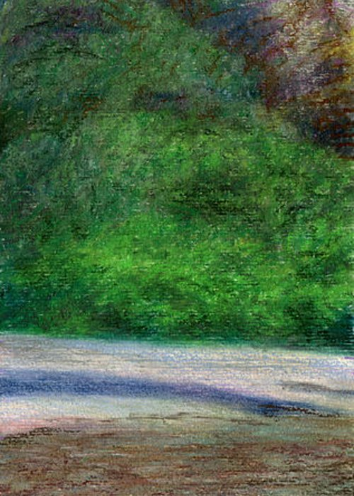 Rainbow Colors Pastel Greeting Card featuring the painting Tunnels Beach by Kenneth Grzesik