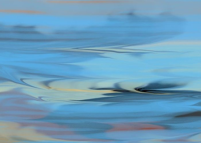 Ocean Art Greeting Card featuring the painting Turbulence by D Perry