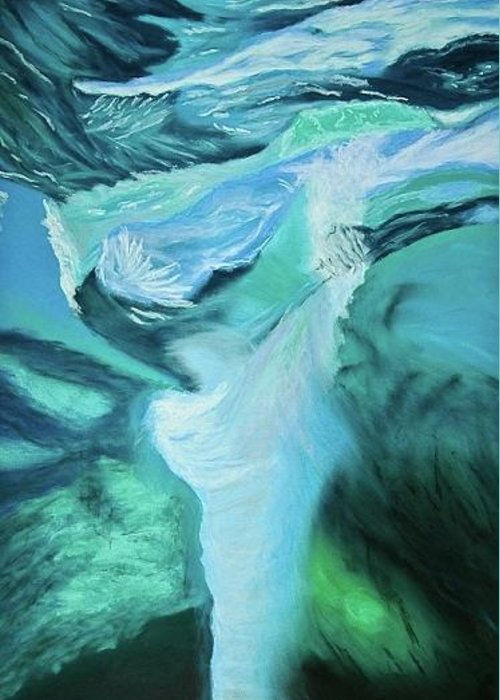 Abstract Greeting Card featuring the pastel Turbulence by Judi Schultze