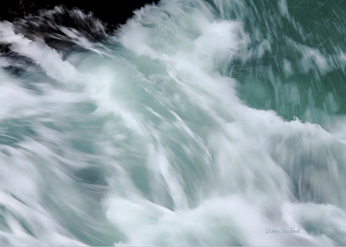 Sea Greeting Card featuring the photograph Turbulent Seas by Donna Blackhall