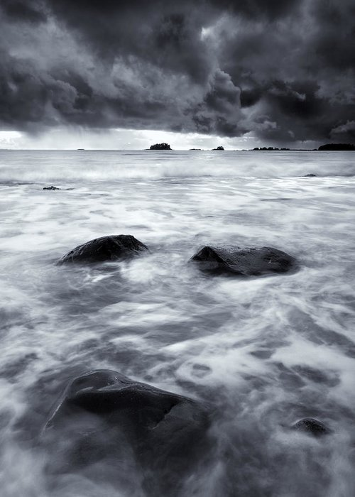 Sitka Greeting Card featuring the photograph Turbulent Seas by Mike Dawson