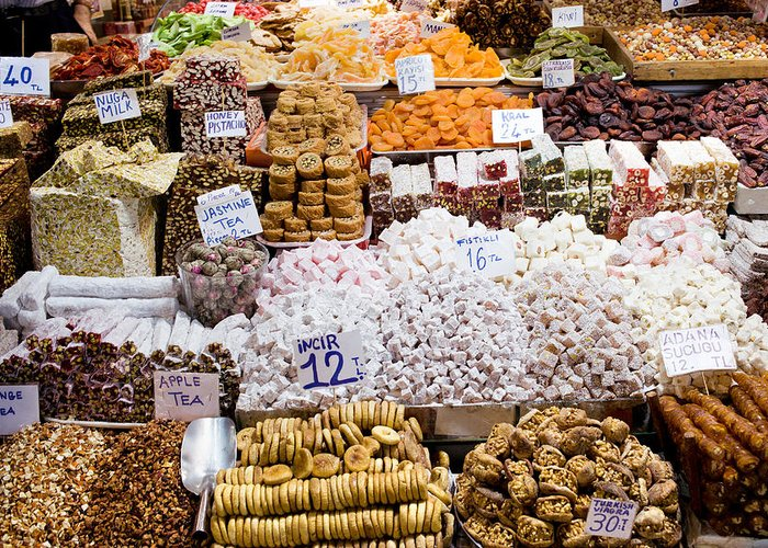 Sweet Greeting Card featuring the photograph Turkish Delight In Istanbul by Artur Bogacki