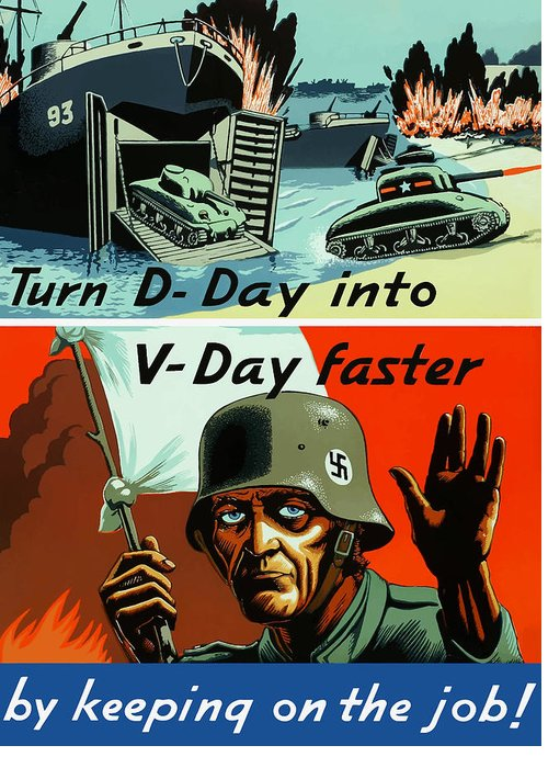 D Day Greeting Card featuring the painting Turn D-day Into V-day Faster by War Is Hell Store