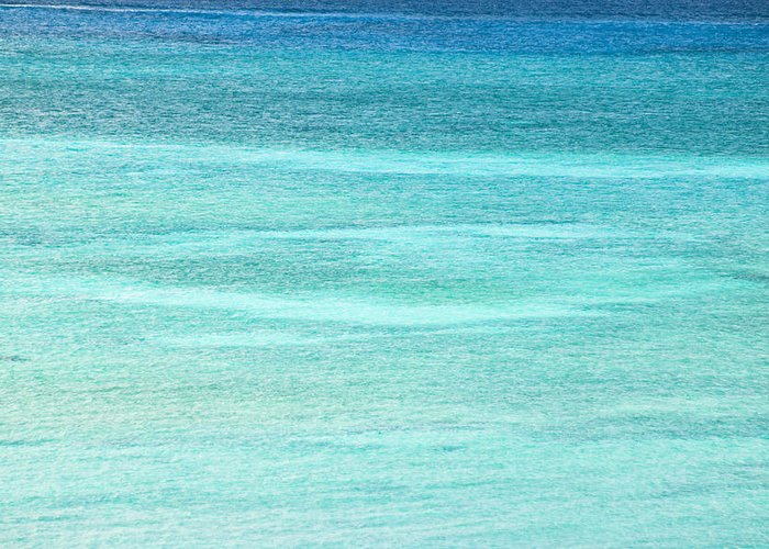 Nobody Greeting Card featuring the photograph Turquoise Blue Carribean Water by James Forte