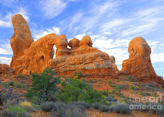 Arches Greeting Card featuring the photograph Turret Arch by Dennis Hammer