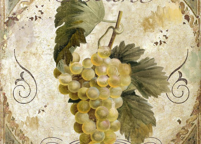 Painted Grapes Greeting Cards