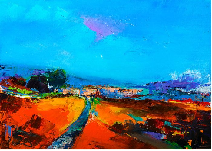 Tuscany Greeting Card featuring the painting Tuscan Village by Elise Palmigiani