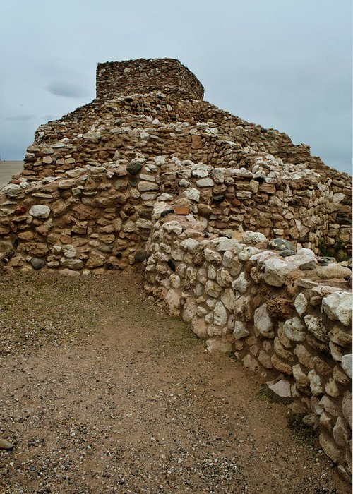 Arizona Greeting Card featuring the photograph Tuzigoot Ruins No. 1 by David Gordon