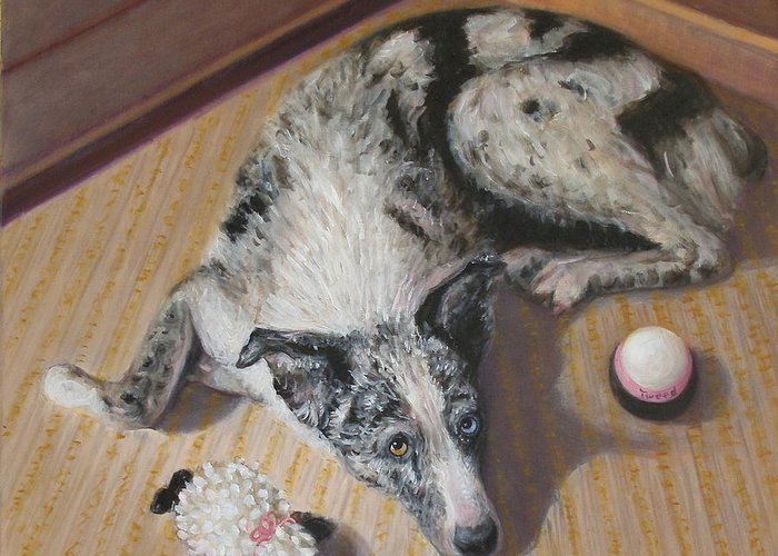 Realism Greeting Card featuring the painting Tweed by Donelli DiMaria