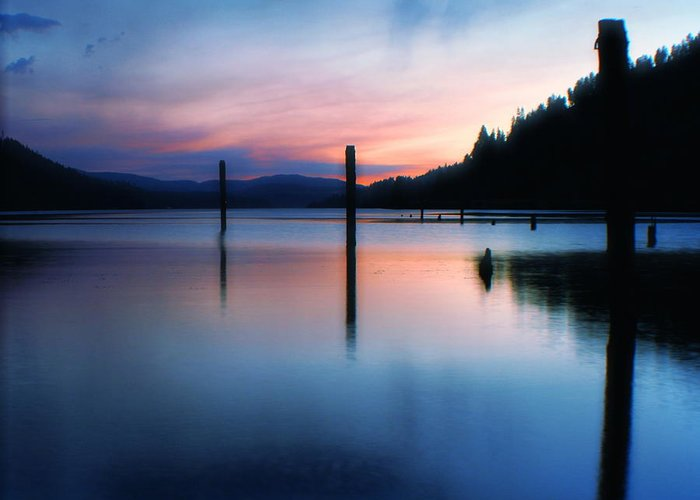 Dusk Greeting Card featuring the photograph Twilight by Idaho Scenic Images Linda Lantzy