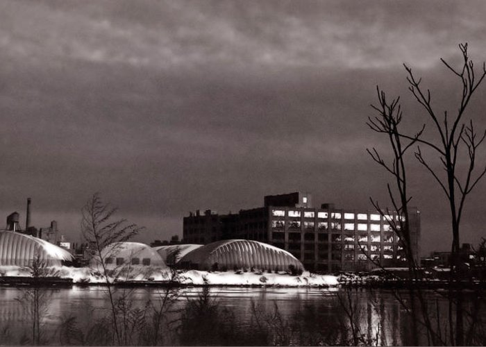 Long Island City Greeting Card featuring the photograph Twilight On The Other Side by Andrea Simon
