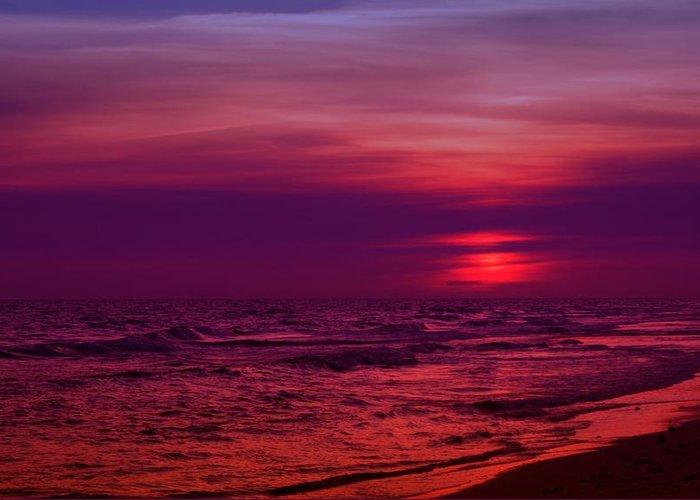 Panama City Beach Greeting Card featuring the photograph Twilight by Sandy Keeton