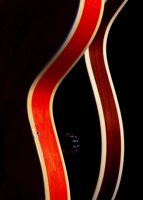 Guitar Greeting Card featuring the photograph Twin Gibsons 2 by Art Ferrier
