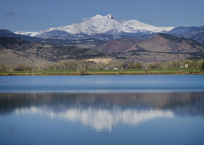 Beautiful Greeting Card featuring the photograph Twin Peaks Mccall Reservoir Reflection by James BO Insogna