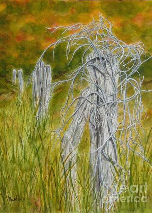 Landscape Greeting Card featuring the painting Twisted by Regan J Smith