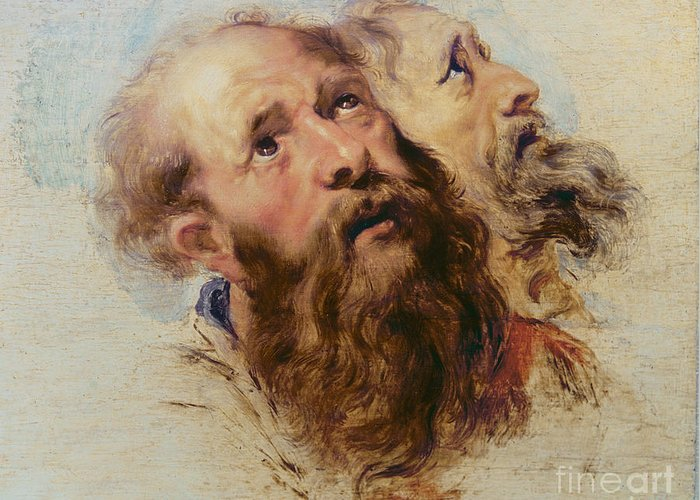 Rubens Greeting Card featuring the painting Two Apostles by Rubens