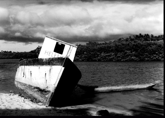 Boat Greeting Card featuring the photograph Two Boats by Amarildo Correa