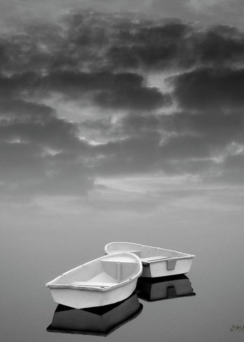 Boats Greeting Card featuring the photograph Two Boats And Clouds by Dave Gordon